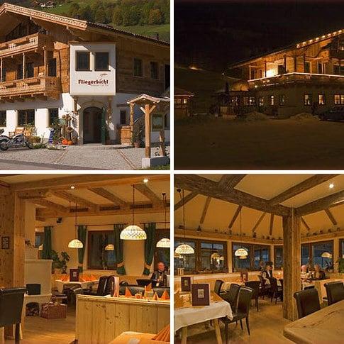 Restaurant Fliegerbichl in Bramberg am Ende der längsten beleuchteten Rodelbahn der Welt
